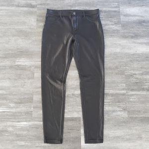Black Faux Leather HUE Skinny Pant